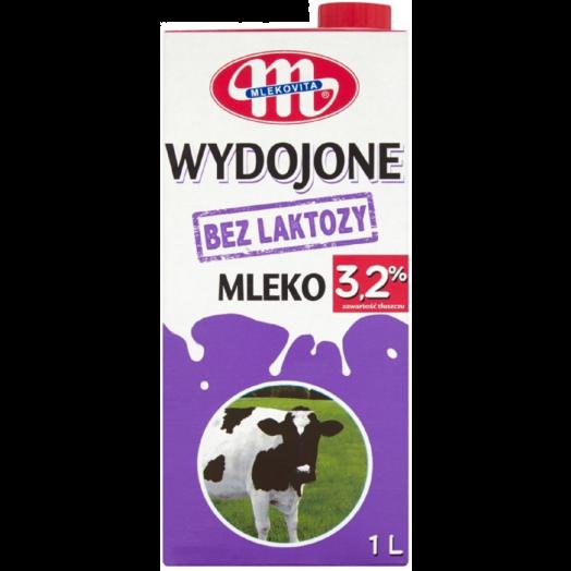 Молоко без лактози 3,2% 1л ТМ Mlekovita