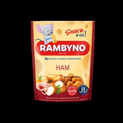Сир плавлений Rymbyno Snack з шинкою 75г ТМ DZIUGAS