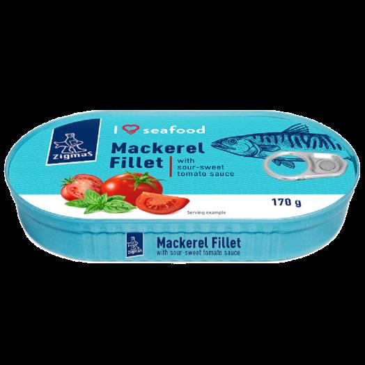 Філе скумбріі I Love Seafood в томатному соусі 170г ТМ Zigmas