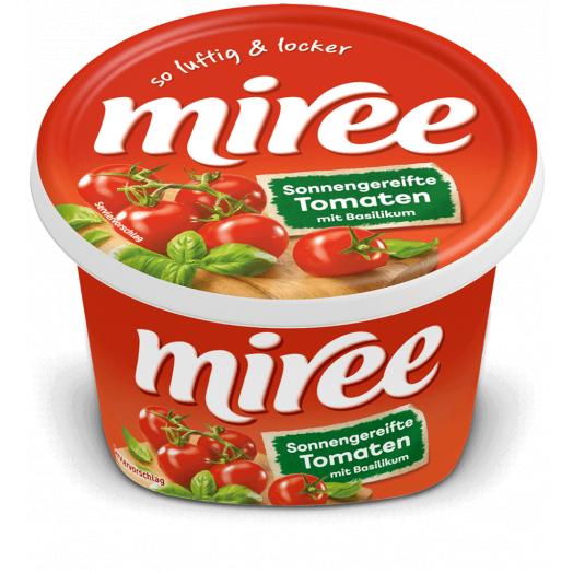 Сир вершковий з томатом-базіліком 64% 150г TM Miree