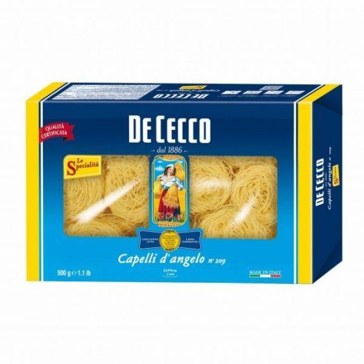 Макаронні вироби з твердих сортів пшениці Капеллі Д'анжело Ніді Семола 500г TM De Cecco