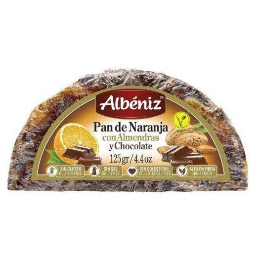 Іспанський хліб Апельсиново-мигдальний з шоколадним зерном 125гр. ТМ Albeniz