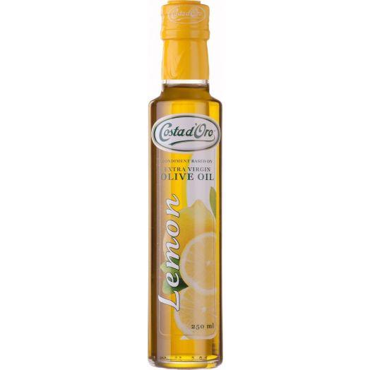 Олія оливкова холодного віджиму Extra Virgin з ароматом лимону 250мл TM Costa d'Oro