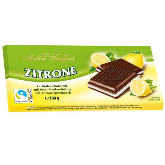 Шоколад чорний з лимонним кремом 100г ТМ Maître Truffout