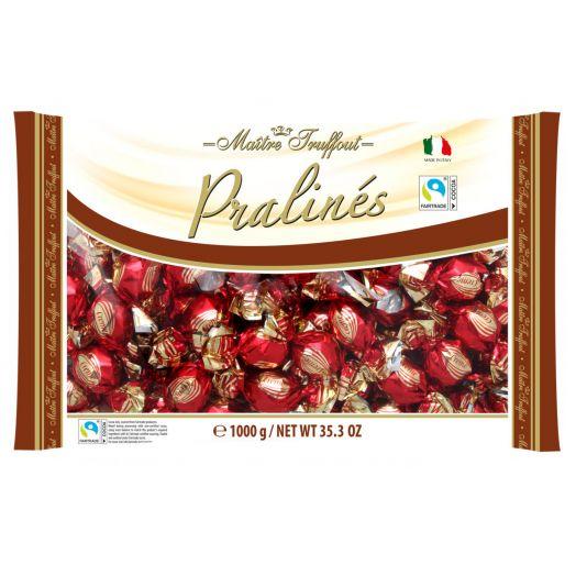 Цукерки Праліне у молочному шоколаді з лісовим горіхом 1кг ТМ Maître Truffout