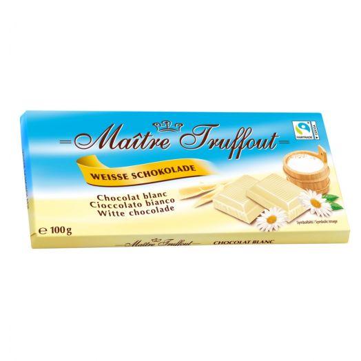 Шоколад білий 100г ТМ Maître Truffout