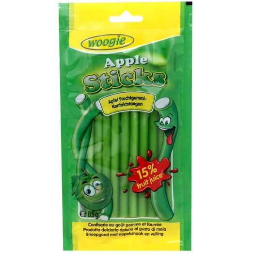 Цукерки жувальні з ароматом яблука та начинкою 85г ТМ Woogie