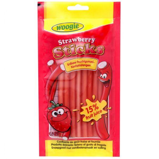 Цукерки жувальні з полуничним ароматом та начинкою  85г ТМ Woogie