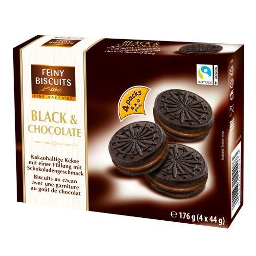 Печиво з чорним шоколадом 176г ТМ Feiny Biscuits