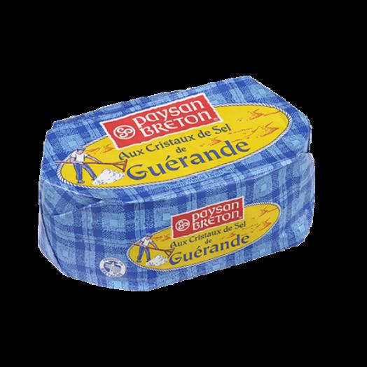 Масло з сіллю (з кристалами солі) Геранд формове 80% 250г ТМ Paysan Breton