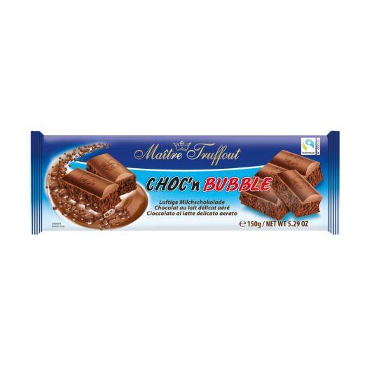 Шоколад молочний пористий Choc'n Bubble 150г ТМ Maître Truffout