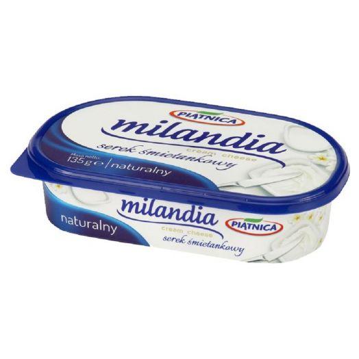Вершковий сир натуральний MILANDIA 60% 135г ТМ Piatnica