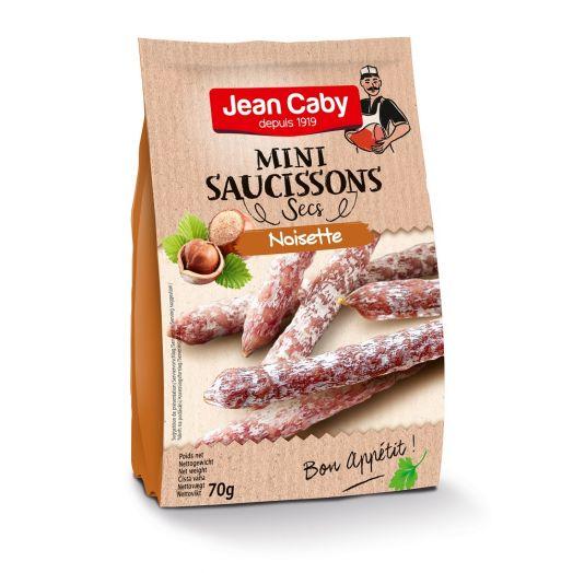 Ковбаски міні салямі з фундуком 70г ТМ Jean Caby
