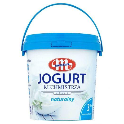 Йогурт натуральний 3%1кг TM Mlekovita