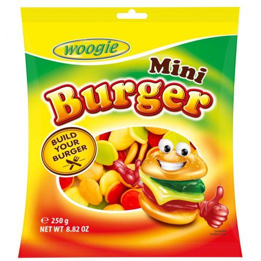 Цукерки жувальні міні бургери 250г ТМ Woogie