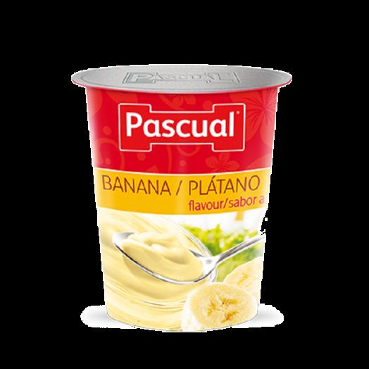 Йогурт зі смаком банану 125г ТМ Pascual
