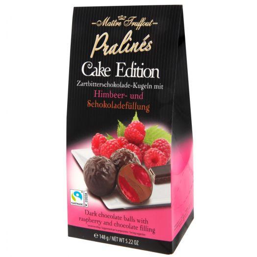 Тістечко-праліне малина, чорний шоколад 148г ТМ Maître Truffout