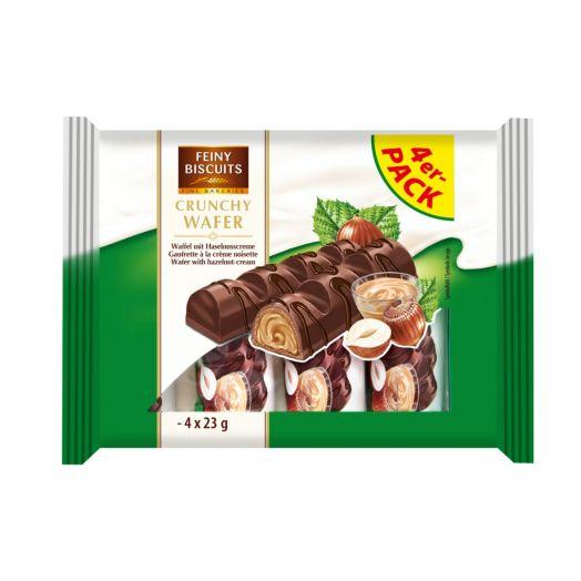 Вафлі з кремово-горіховою начинкою 4х23г ТМ Feiny Biscuits