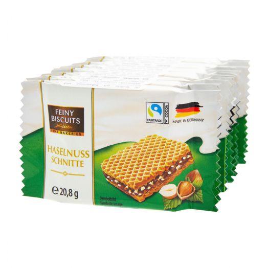 Вафлі з какао-кремом та фундуком 166г ТМ Feiny Biscuits