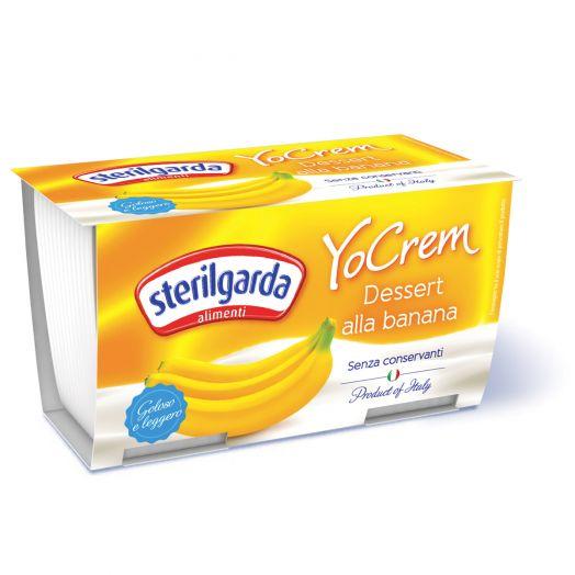Йогурт банановий пастеризований YO CREM 100г X2 ТМ Sterilgarda Alimentari