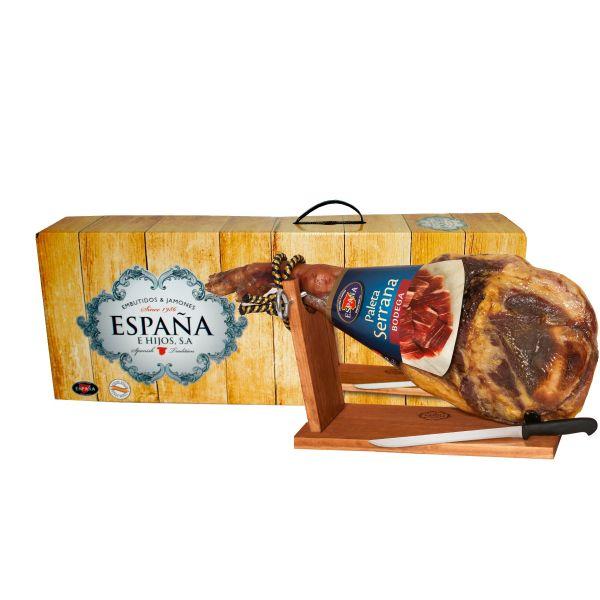 Хамон Палета Бодега на кістці в подарунковій упаковці (8міс. витримки) 4-5кг ТМ Espana